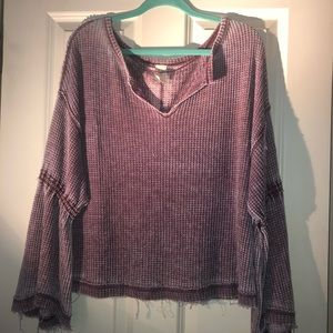 Free people oversized long sleeve top